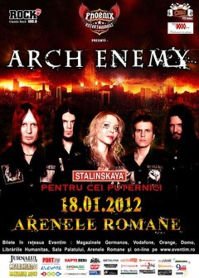 Ce trupa va deschide concertul Arch Enemy din Romania?