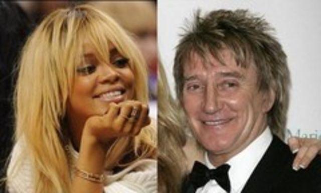 Rihanna s-a facut iar blonda. E comparata cu Rod Stewart (foto)