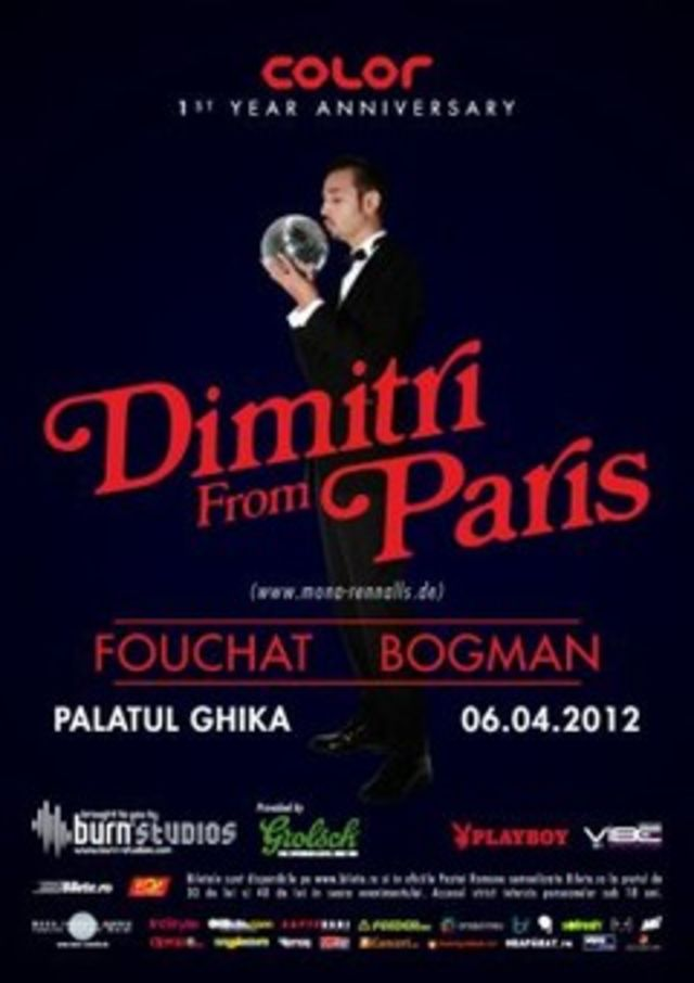 Concurs incheiat: Hai la Dimitri From Paris - 1st Year Color Anniversary la Palatul Ghika!