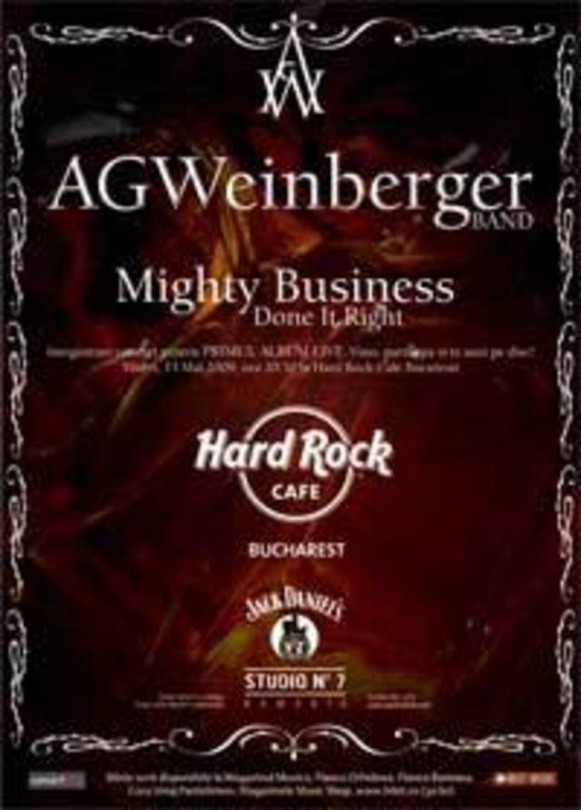 AG Weinberger inregistreaza primul album live la Hard Rock Cafe