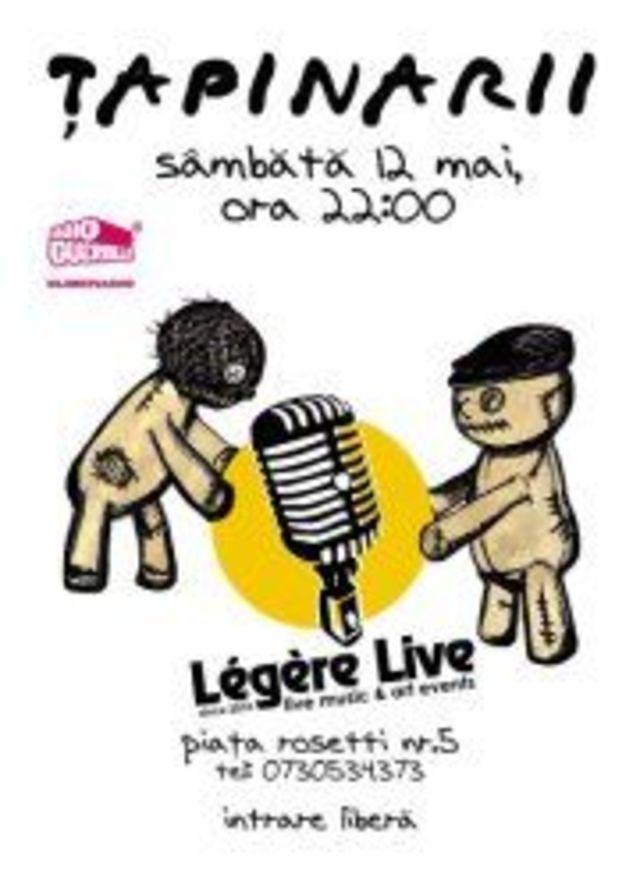 Trupa Tapinarii concerteaza pe 12 mai in Legere Live