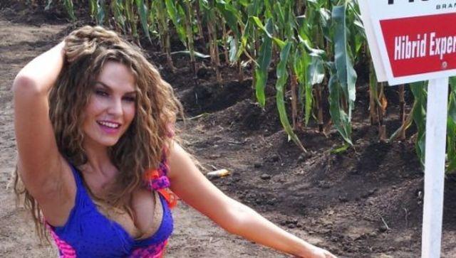 Anna Lesko - o diva sexy in lanul de porumb (foto)
