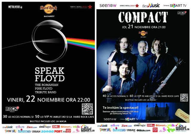 Compact si Speak Floyd la Hard Rock cafe: biletele cu loc sunt pe terminate. VIP epuizat