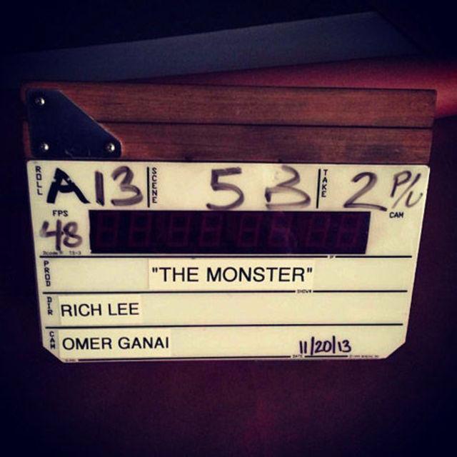 Eminem si Rihanna filmeaza videoclipul The Monster (foto)