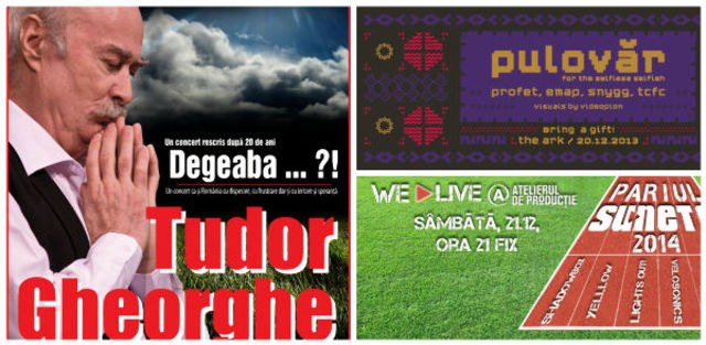 Evenimente in weekend: 20 - 22 decembrie 2013