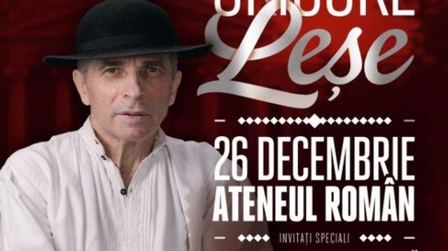 Concertul Grigore Lese de la Ateneul Roman este sold-out