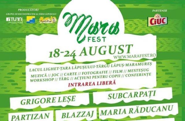 MaraFest 2014 in Tara Lapusului: program complet + playlist de festival