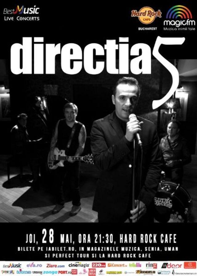 Directia 5, Cristi Minculescu & Band si Adi Barar Blues Band canta la Hard Rock Cafe din Bucuresti