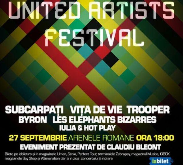 Programul UAF: Subcarpati, Trooper, Vita de Vie, byron, Leseb – 27 septembrie, Arenele Romane