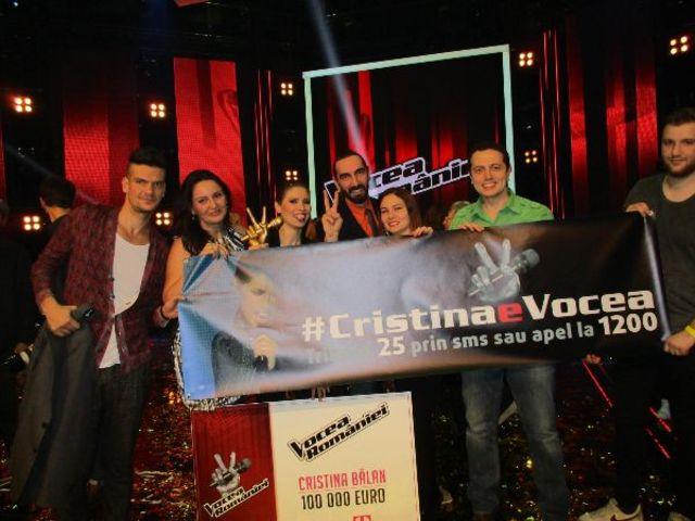 Cristina Balan e Vocea Romaniei!