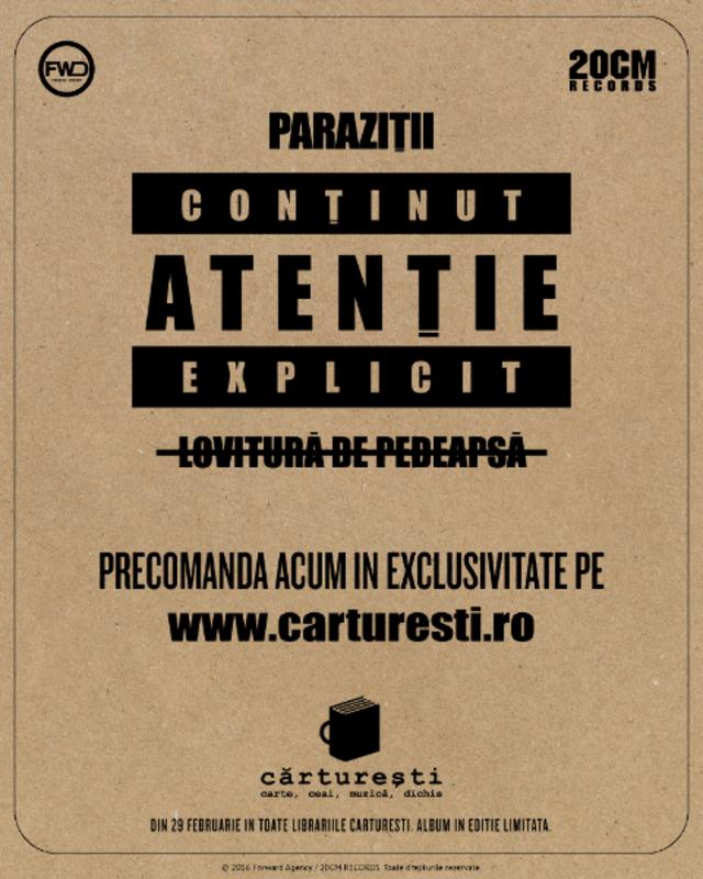 """Paraziții lansează un nou album – """"Lovitură de pedeapsă"""""""