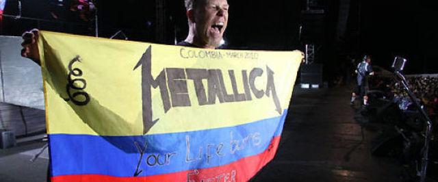Membrii trupei Metallica au strans 9 tone de mancare pentru familiile sarace din Columbia