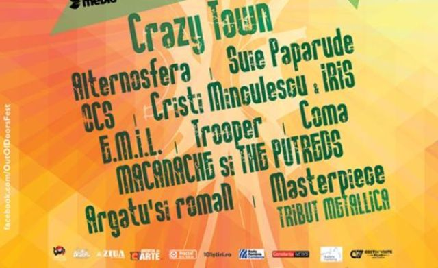 Crazy Town canta pe scena de la Out Of Doors Fest 2017