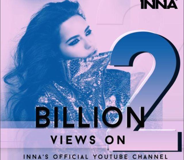 INNA stabileste un nou record pe YouTube: 2 miliarde de vizualizari pe propriul canal