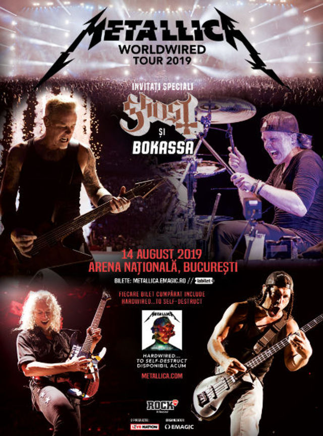 Concert Metallica in Romania pe Arena Nationala la Bucuresti pe 14 august