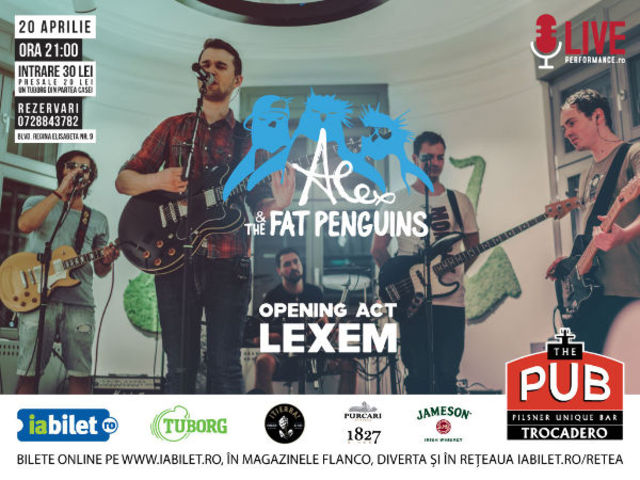Alex & The Fat Penguins sarbatoresc trei ani printr-un concert electric in The Pub