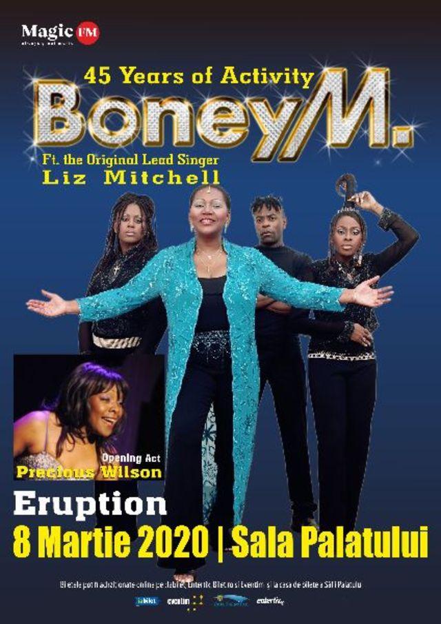 Legendarii Boney M sarbatoresc 45 de ani de activitate la Bucuresti, alaturi de Eruption!