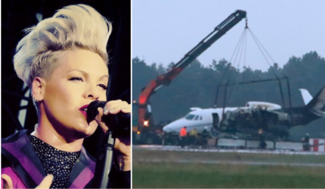 Pink: avionul echipei de management a artistei a luat foc