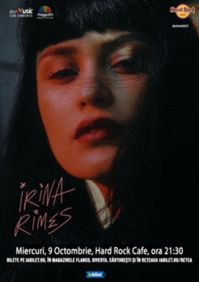 Concert Irina Rimes la Hard Rock Cafe pe 9 Octombrie