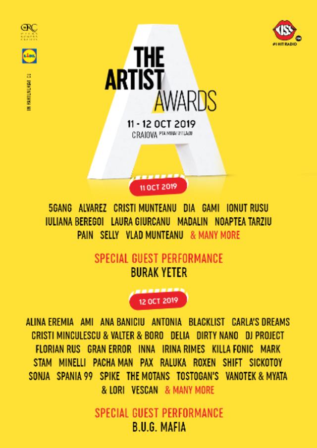 Mai sunt 4 zile pana incepe The Artist Awards