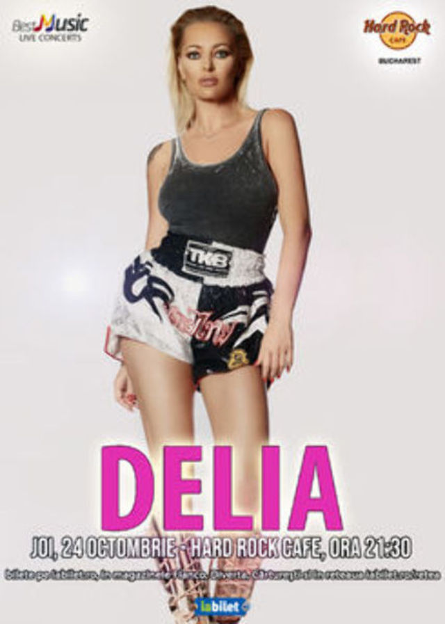 Concert Delia la Hard Rock Cafe pe 24 Octombrie