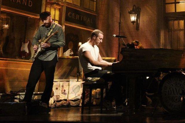 Coldplay live la Saturday Night Live