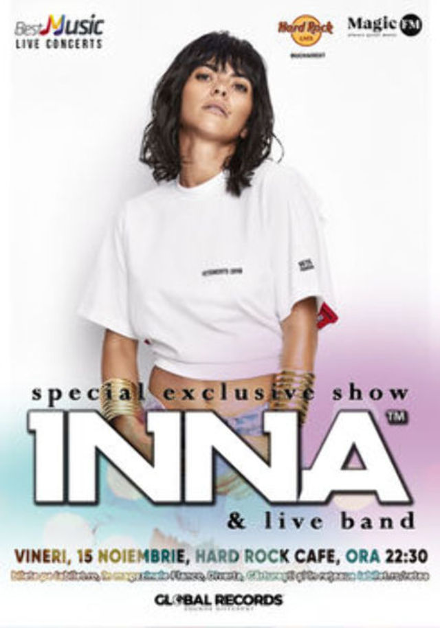 INNA - special exclusive show la Hard Rock Cafe pe 15 Noiembrie
