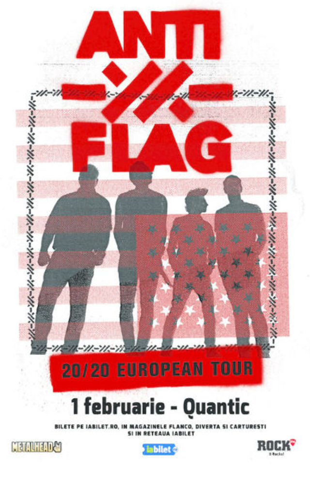 ANTI-FLAG in concert la Bucuresti, pe 1 Februarie 2020