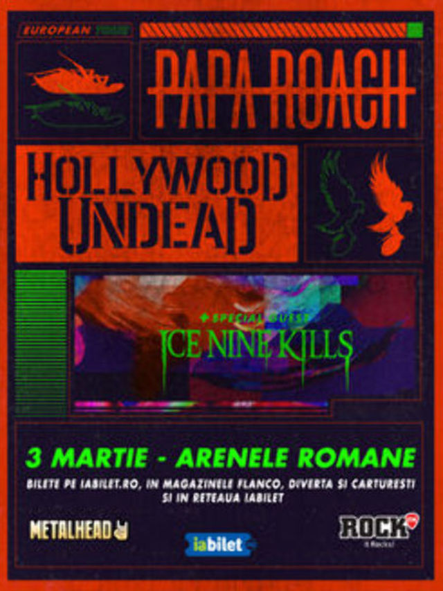 Ice Nine Kills deschid concertul Papa Roach si Hollywood Undead
