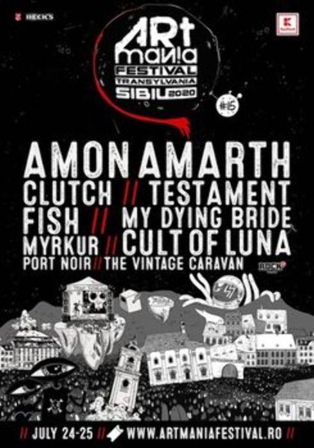 ARTmania 2020 (24-25 iulie), noi confirmari: Fish, Port Noir si Testament intregesc line-up-ul editiei aniversare