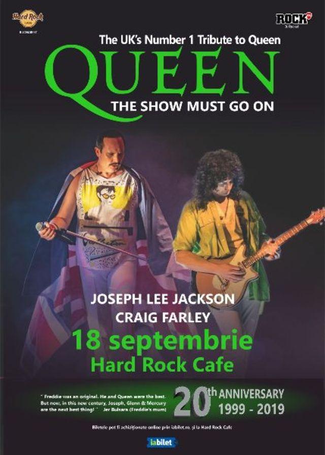 Concertul tribut QUEEN de la Hard Rock Cafe este reprogramat pentru data de 18 septembrie