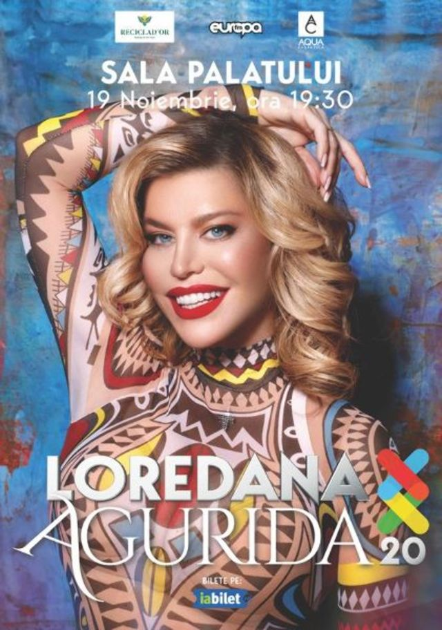 Loredana reprogrameaza concertul Agurida 20 / XX, de la Sala Palatului, pe 19 noiembrie 2020