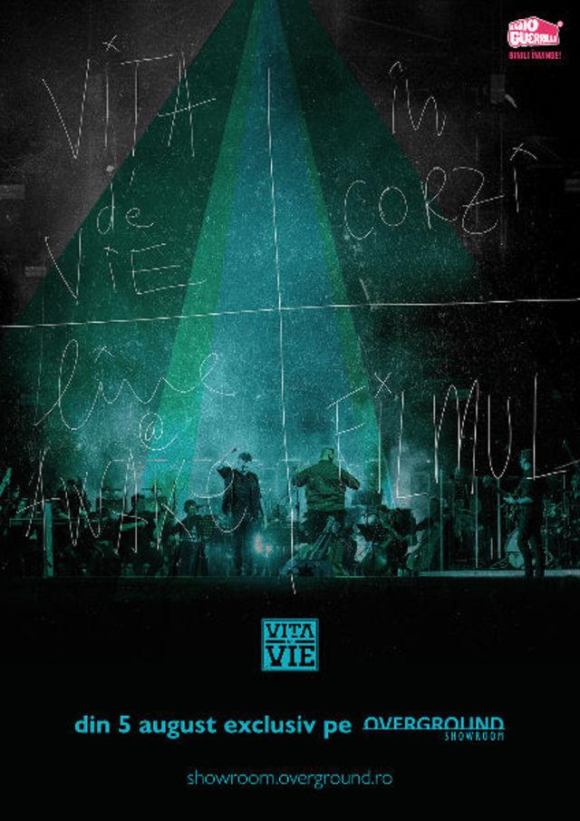 """Concertul simfonic """"Vita de Vie-In corzi"""" va fi disponibil pe Overground Showroom"""