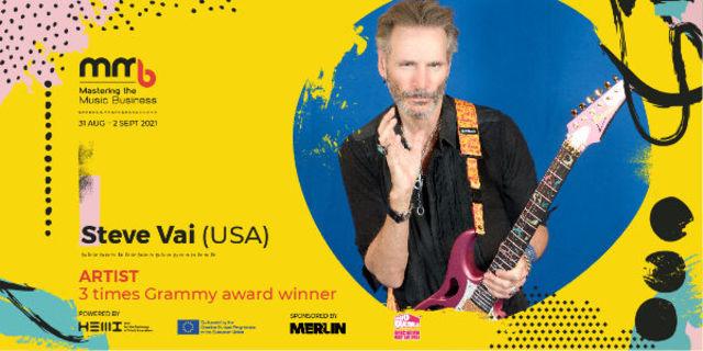 Steve Vai, celebrul chitarist american, confirmat la conferinta Mastering the Music Business din Bucuresti