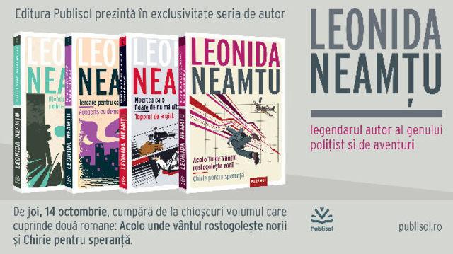 Editura Publisol lanseaza, in octombrie 2021, seria de autor Leonida Neamtu!