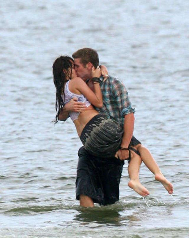 Filmari The Last Song, Miley Cyrus si Liam Hemsworth