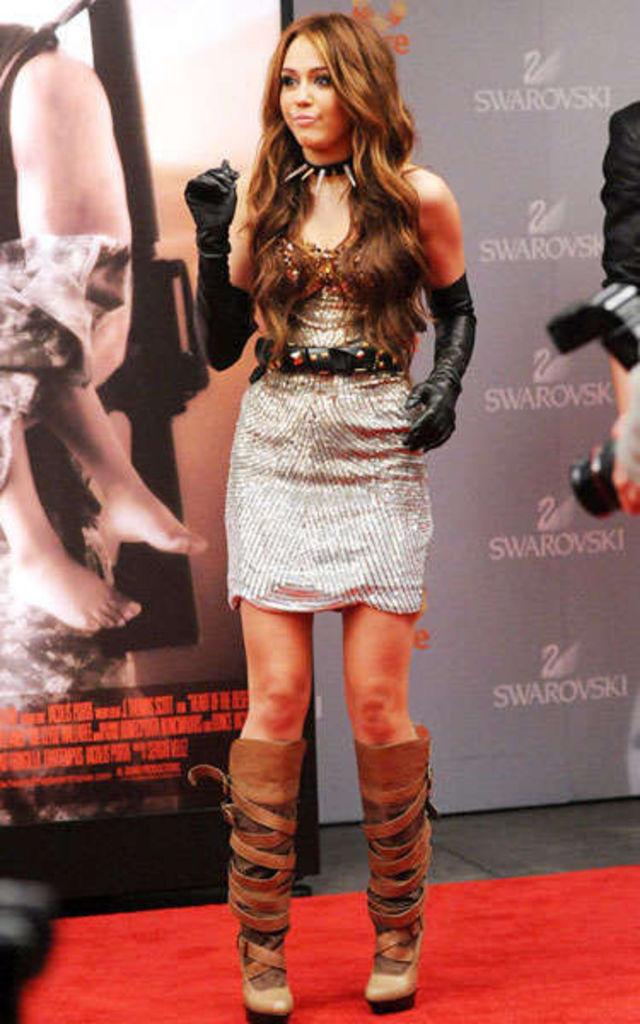 Miley Cyrus la filmari pentru Sex And The City